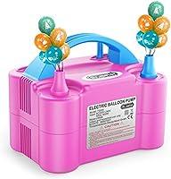 Dr.meter Ballonluchtpomp, Elektrische Inflatorpomp met Dubbele Sproeierblazer Draagbare Pomp voor Kerstdecoraties, Feest,...