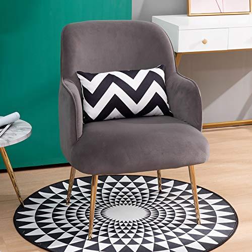 COLU Sofá Individual De Franela, Sillón De Terraza Familiar Iron Art con Respaldo Alto, Amarillo 0410S(Color:Gris)