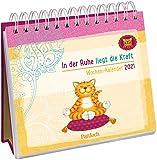 Om-Katze: In der Ruhe liegt die Kraft - Wochen-Kalender 2021: zum Aufstellen m. Illustrationen u. Zitaten, inspirierende Texte auf d. Rückseiten, Spiralbindung, 16,6 x 15,8 cm