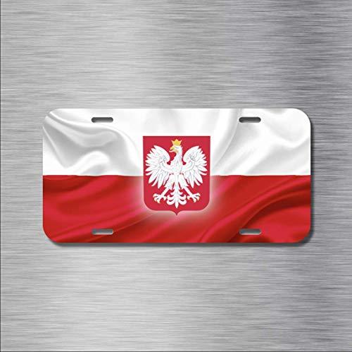 MNUT polnische Flagge Polen Warschau Krak ¨®w Polski New Nummernschild 15,2 x 30,5 cm