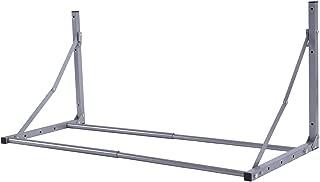 Goplus Wall Mount Tire Rack, Folding Adjustable Wheel Storage, Heavy Duty Steel 300lbs Capacity Wheel Holder (Silver)