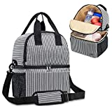 Teamoy Breast Pump Bag Tote with Cooler Compartment for Breast Pump