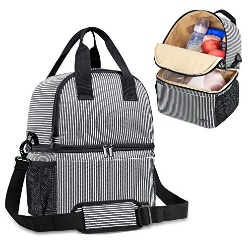 Teamoy Breast Pump Bag Tote with Cooler Compartment for Breast Pump, Cooler Bag, Breast Milk Bottles...