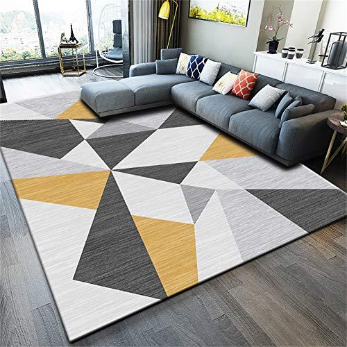 HAI Alfombras,Patrones Geométricos Alfombra Gris para Sala De Estar Sofá Mesa De Centro Dormitorio(Size:180 * 250cm,Color:Gris con tapetes)