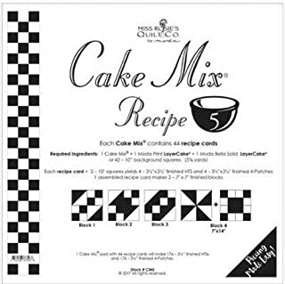 Moda Cake Mix Recipe #5 ~44 recipe cards will make 176, 3 1/2
