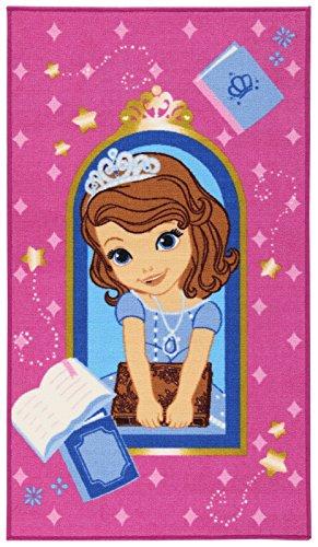 Disney Action Line Sofia Tappeto, Materiale Sintetico, Multicolore, 80.0x140.0x1.12 cm