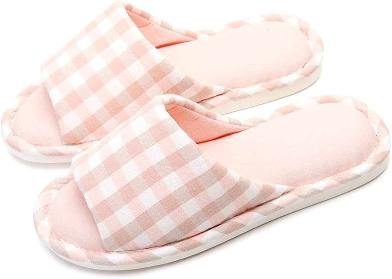 Warm Women Slippers Cotton-Padded Anti-Slip at House Family Home Slippers Stripe Autumn Winter Indoor shoes,Pink,3738