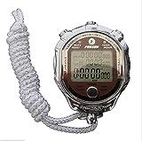 LYDBM Digital Metal Cronómetro 1/1000 Segundo Contador cronógrafo de los Deportes de fútbol Temporizador de Cuenta Regresiva Pantalla Grande metrónomo Despertador (Color : Picture Color)