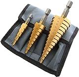 Malayas <span class='highlight'>3Pcs</span> HSS <span class='highlight'>Step</span> Cone <span class='highlight'>Drill</span> Titanium Coated Hole Cutter <span class='highlight'>Bit</span> <span class='highlight'>Set</span> 4-12 20 32mm Tools Accessories