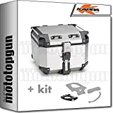 kappa maleta kfr420a k'force 42 lt + portaequipaje monokey compatible con bmw f 800 gs adventure 2013 13