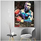 A&D Boxen Mike Tyson Abstrakte Wandkunst Ölgemälde Poster