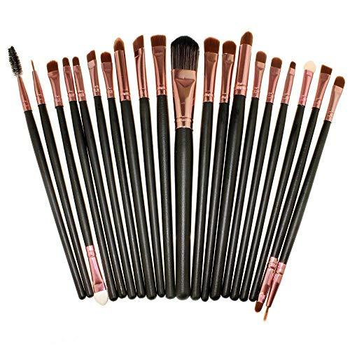 CINEEN 20 Stück Professional Makeup Pinsel set Augenbrauen Wimpern Lidschatten Lidstrich...