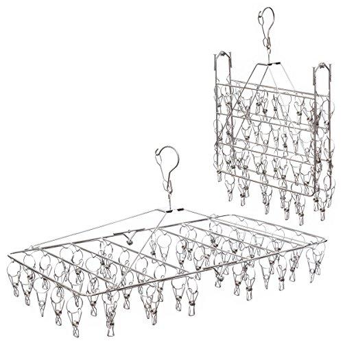 (アーネス)Arnes 主婦が選んだ ステンレス ピンチハンガー 折畳み式 長持ち 物干し 洗濯ピンチハンガー 52本 【保証付】