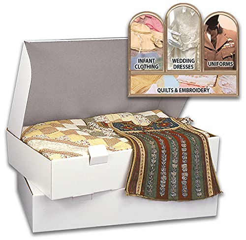 S.A. RICHARDS 1407 Prop-IT Museum Quality, Acid-Free Storage Chests for Textiles, Extra Large Size (6' x 40' x 18')