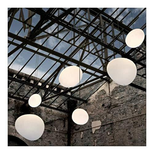 SCH Moderne Glaspendelleuchten Italien Suspension Hängelampe Led Unregelmäßige Pendelleuchte Esszimmer Küche Loft Light Fixture (Size : Dia47cm x 40cm)