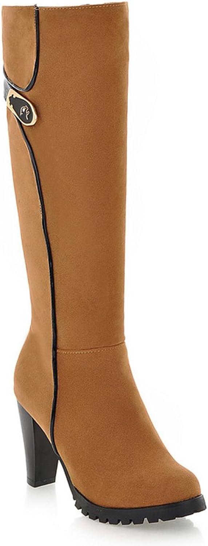 AIWEIYi Womens Thigh High Boots Thick Heel High Heels Platform Over The Knee Boots Green