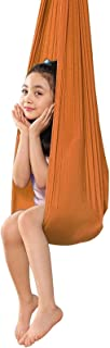 Yoga Swing Sensory Swing Cuddle Hammock Set Therapy Swing Indoor Snuggle Swing Set, 440lbs Load Capacity (Color : Orange, ...