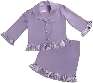 Girls' Buttons Interview Suit Jacket Skirt Suit Pageant Outfit