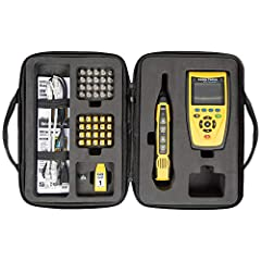 Locate, test and measure coaxial, data (RJ45) and telephone (RJ11) cables Identify wiring faults including miswire, open fault, short fault, split-pair, wire map Detect, identify and test Power over Ethernet (PoE) Measure cable length and distance-to...