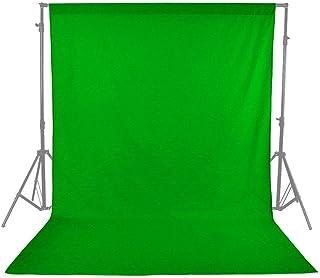 Aihome 単色 布バック グリーン 撮影用背景布 グリーンバック クロマキーグリーン (5×2.7m)