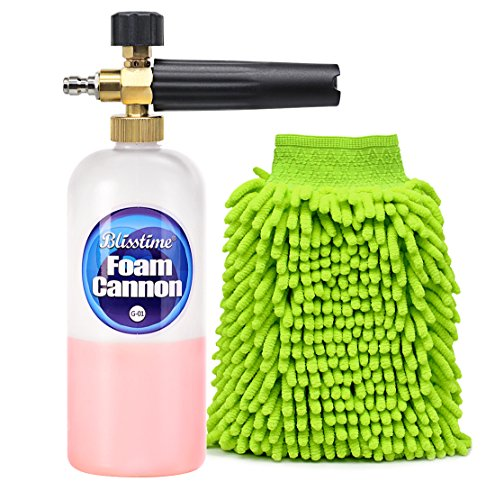 Blisstime Snow Foam Lance Car Wash Pressure Washer Jet Wash 1/4' Quick Release Adjustable Foam...
