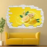 Pegatinas de pared comida saludable fruta etiqueta de la pared calcomanía arte mural impresión cartel decoración
