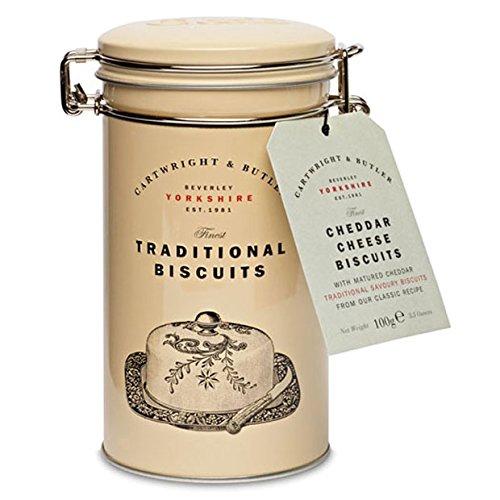 Cartwright e Butler Luxury Presentato in una splendida scatola riutilizzabile Un grande regalo Deliziosi biscotti al cheddar