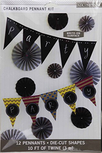Price comparison product image K&Company Chalk It Now Chalkboard Pennant Kit ~ Write-On Surface Party Banner
