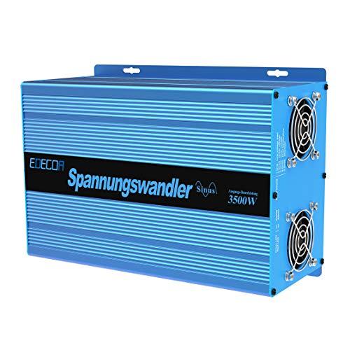 EDECOA Transformador de voltaje ONDA PURA 12v 220v Convertidor 3500w y pico...