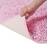 STARHOO Bathroom Rugs Non Slip 20 x 30 Bath Mats for Bathroom Floor Absorbant Chenille Bath Rugs Machine Washable Large Size Pink
