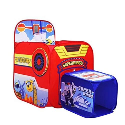 HWH 2 en 1 Tienda con Ball Pool, de la familia del juego surge la tienda de dibujos animados de la bola del hoyo Playhouse niños pequeños rompecabezas Carpa Toy Room - Rastrear tiendas de campaña Casa