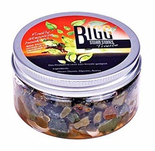2 x Trauben 100g Bigg Steam Stones Non-Tabacco Shisha Geschmack Wasserpfeifen (Verpackung kann variieren)