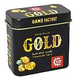 Game Factory 646252 Gold - Mini Juego de Cartas en práctica Caja de Metal, Ideal como Juego de Viaje o Regalo, para 2 a 5 Jugadores