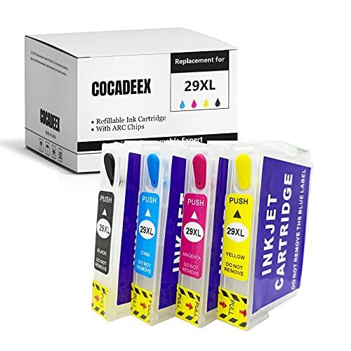COCADEEX Cartucho de tinta recargable vacío para tinta 29XL, para XP-235 XP-245 XP-247 XP-255 XP-332 XP-335 XP-342 XP-345 XP-355 XP-352 XP-430 XP-432 XP-435 XP-442 XP-445 XP-452 Impresora
