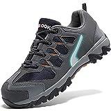 Zapatos de Seguridad para Hombre con Puntera de Acero Zapatillas de Seguridad Trabajo, Calzado de Industrial y Deportiva(A Gris,42 EU)