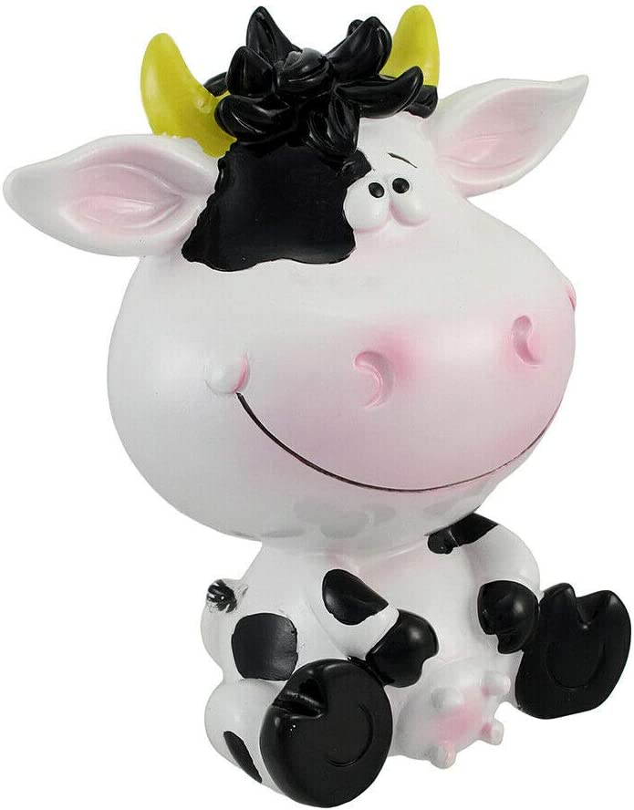 Silly Sitting Black and White Milk Cow Coin Max 74% OFF Bank- Ranking TOP14 Fav Children`s