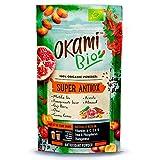 Okami Bio'Super Antiox' Superfood Powder Mix 150 gr   Mezcla orgánica vegana de Té Matcha, Zumo de Granada, Bayas de Goji, Chía, Camu Camu, Acerola y Almendras.