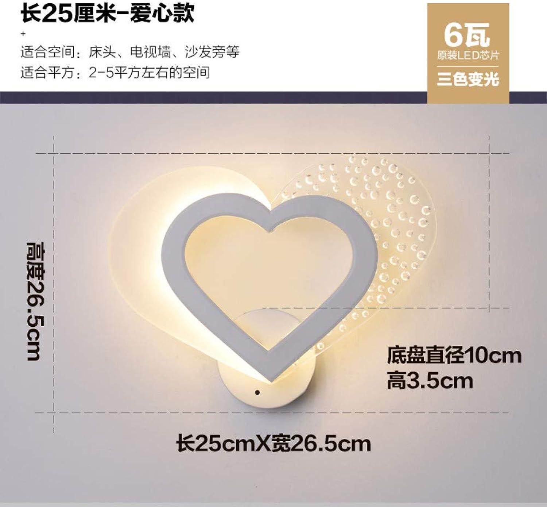 Xinxin24 Wandleuchte Einfache Moderne Schlafzimmer Wohnzimmer Kinder Led Nachttischlampe, Stil 11,6 Watt