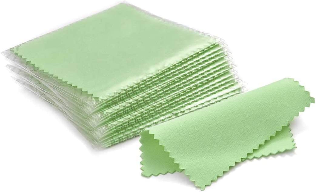 SEVENWELL 50pcs Jewelry Max 63% OFF Cleaning Attention brand Green Polishing for Cloth