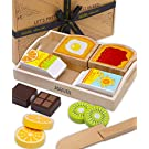 Jaques of London Wooden Play Food Breakfast Set   Premium Play Food Sets for Children   Wooden Toys for 2 3 4 Year Olds   Wooden Play Kitchen Accessories   Since 1795