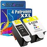 Tito-Express PlatinumSerie 4 Patronen XXL kompatibel mit Samsung INK-M210/215 und INK-C210 | Für CJX-1000 CJX-1050W CJX-2000FW | 2X Black 2X Color