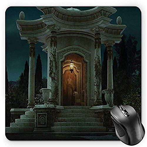 gotische muis pad, Romeinse paviljoen lantaarn Ivy op pijlers onder koepel middeleeuwse architectuur mystieke thema Ivoor