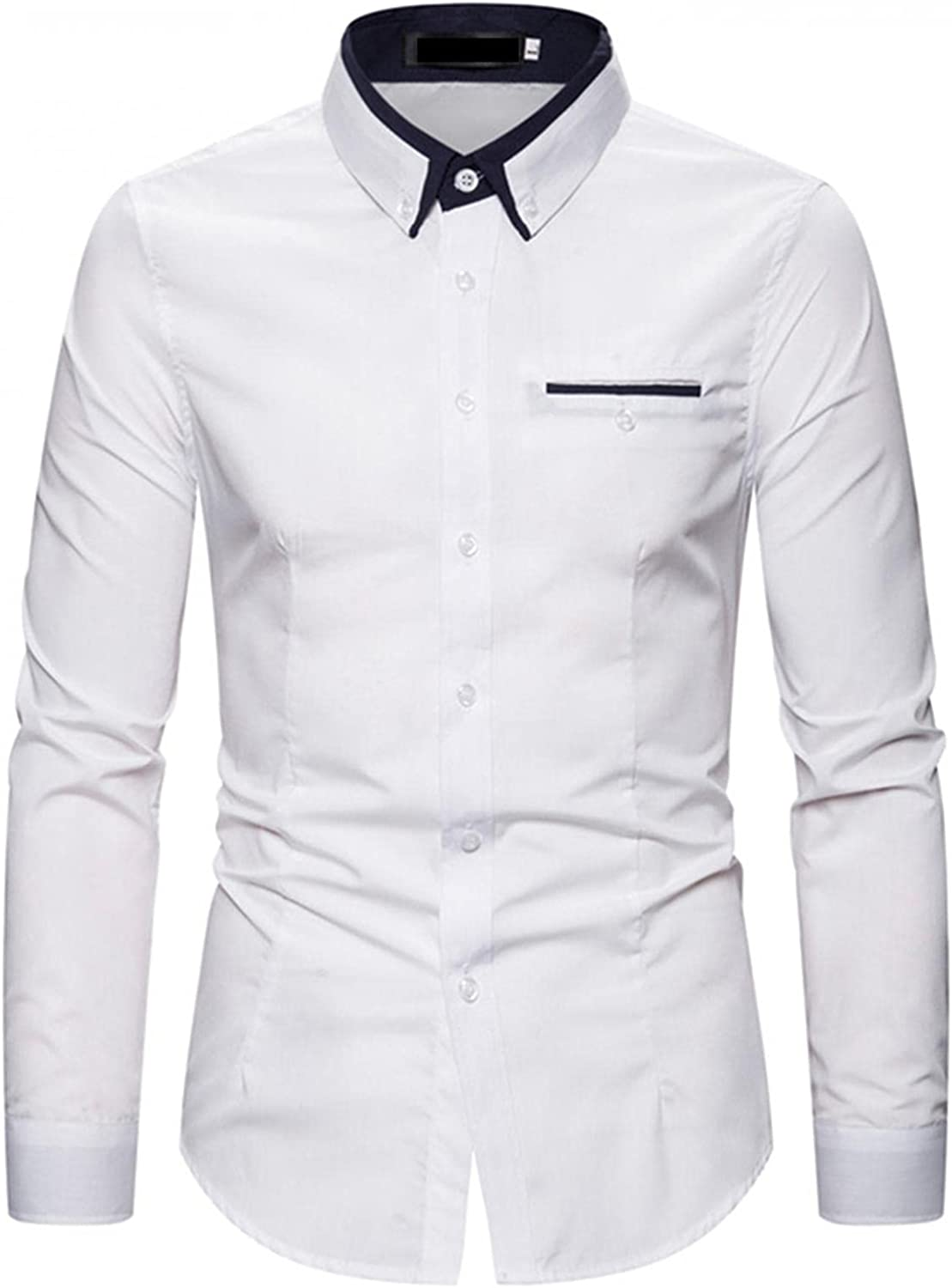 KEEYO Mens Casual Dress Shirts Wrinkle Free Regular Fit Long Sleeve Business Butto Down Cotton Work Shirts