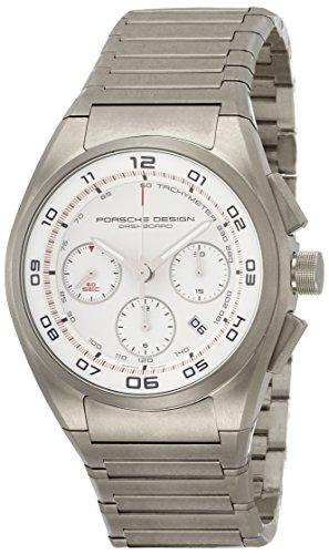 Porsche Herren Datum klassisch Quarz Uhr mit Titan Armband 6620.11.66.0268