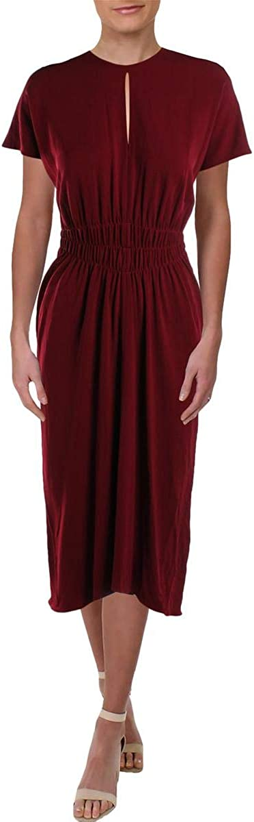 Narciso Rodriguez Womens Cut-Out Cocktail Midi Dress Red 44