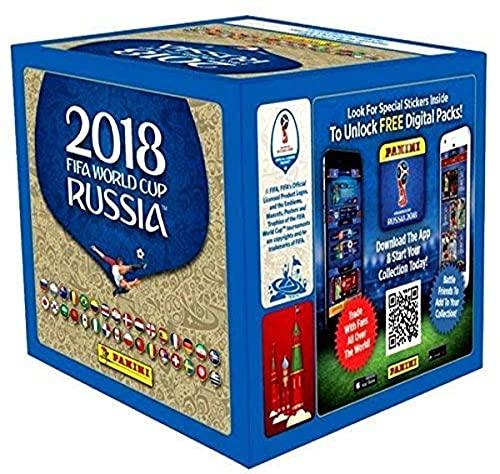 Panini Caja de pegatinas de la Copa Mundial de la FIFA 2018