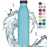 """720°DGREE Thermo Edelstahl Trinkflasche """"milkyBottle"""" - 750ml, 1L - BPA-Frei, Auslaufsicher,..."""