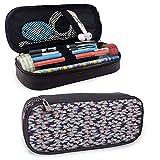Étui à crayons et stylo en cuir tropical avec fermeture à glissière, jardin végétal floral pour stylo, crayon, Huawei, accessoires pour stylos, câble USB, écouteurs, stylo plume 8 'x3,5' x1,5 '