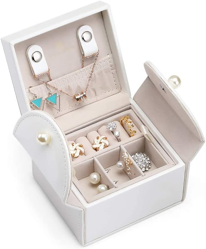 Small Jewelry Box 2 Layers Buttons Cash special price 2021 model Earrings Ne Organizer