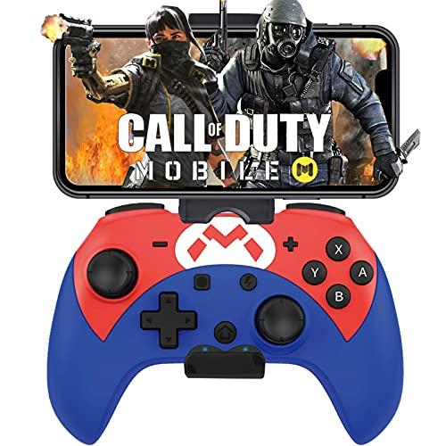 MFi iOS Controller, Megadream Gaming Controller Joystick Joypad mit verstellbarer Klemmhalterung für iOS 13.4+ Version iPhone/iPad, Direct Play – COD/Genshin/Modern Combat 5/etc, nicht für TV – Blau